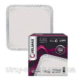 Смарт светильник светодиодный VELMAX V-CL-CRYSTAL-S 70W, 537*537мм, 3000K-6500K, 4900LM пульт