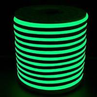 Светодиодный LED гибкий неон PROLUM 2835\120 IP68 12V, Зеленый