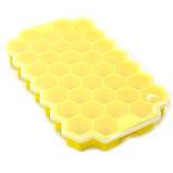 Силиконовая форма для льда CUMENSS Соты Yellow емкость для замораживания воды, фото 5