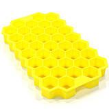 Силиконовая форма для льда CUMENSS Соты Yellow емкость для замораживания воды, фото 6