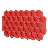 Силиконовая форма для льда CUMENSS Соты Red емкость для замораживания воды, фото 3