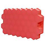 Силиконовая форма для льда CUMENSS Соты Red емкость для замораживания воды, фото 4