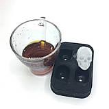 Силиконовая форма для льда CUMENSS Череп Black кубики льда для охлаждения напитков, фото 3