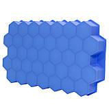 Силиконовая форма для льда CUMENSS Соты Blue емкость для замораживания воды, фото 4