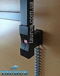 Електротена Heatpol H+E форма 30х40 прямокутник chrome: регулювання 10-65С + таймер 1-9год. Під розетку. Польща Чорний
