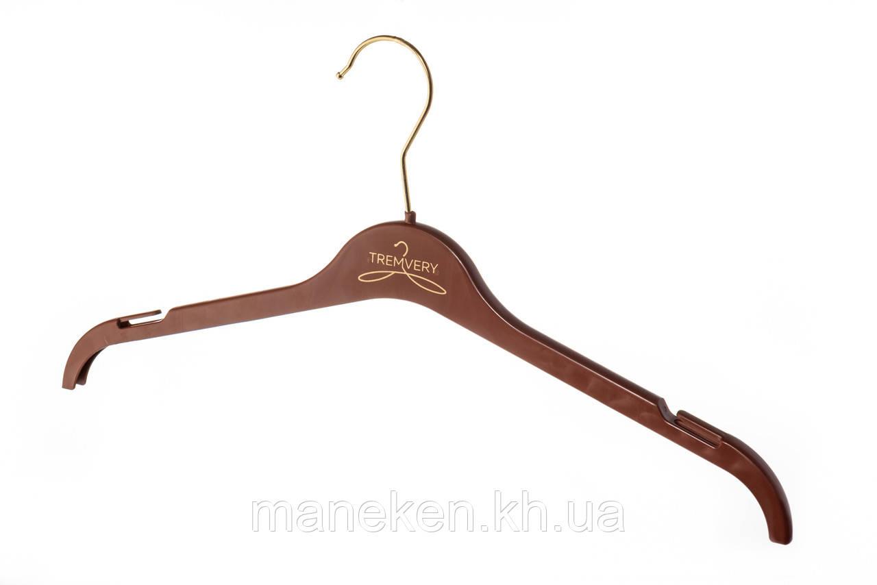 """Вешалка для одежды TREMVERY """"ВТ-1 (45см)"""" коричневая (20517) S2color(G)"""