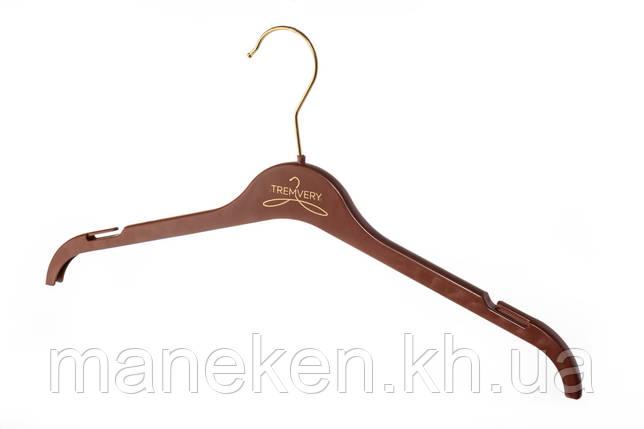 """Вешалка для одежды TREMVERY """"ВТ-1 (45см)"""" коричневая (20517) S2color(G), фото 2"""