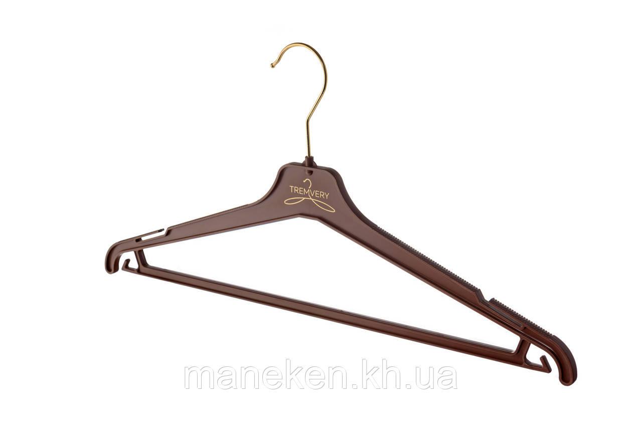 """Вешалка для одежды TREMVERY """"ВКР-45"""" коричневая (20517) S2color(G)"""