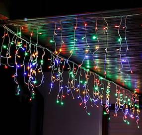 Гирлянда бахрома уличная наружная Springos 12 м 300 LED разноцветная