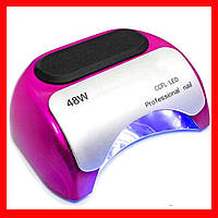 Лампа для маникюра CCFL+LED Professional 48Wрозовая,Маникюрная лампа CCFL+LED Professional розовый цвет
