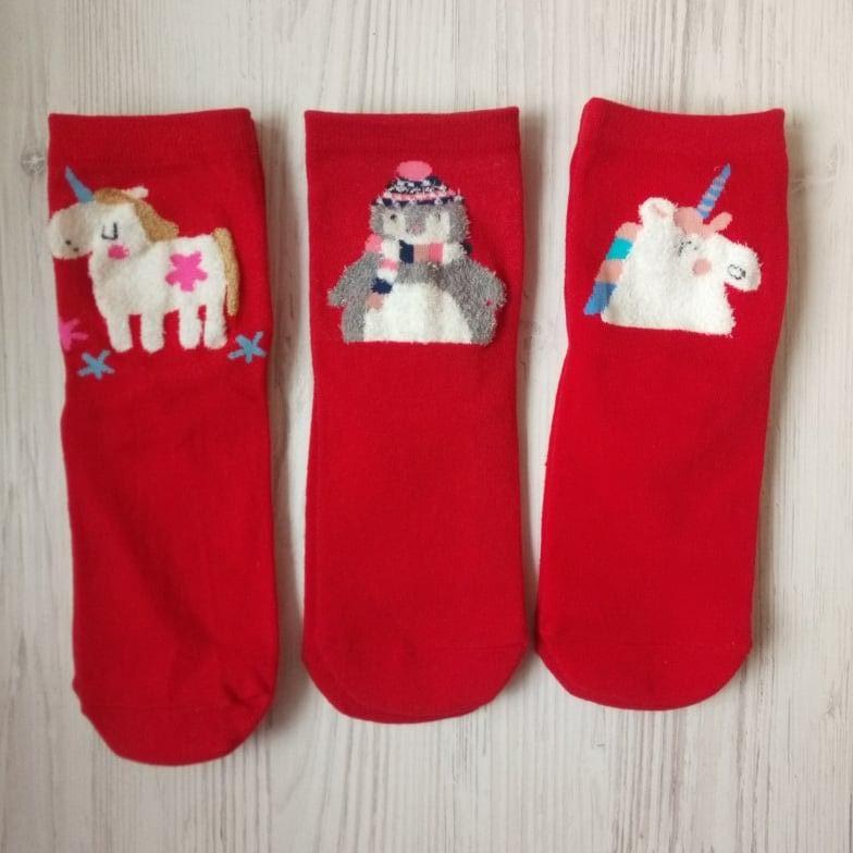 Ціна 80 грн за комплект з 3-х пар новорічних різдвяних шкарпеток новогодние носки