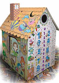 Дитячий картонний будиночок розмальовка