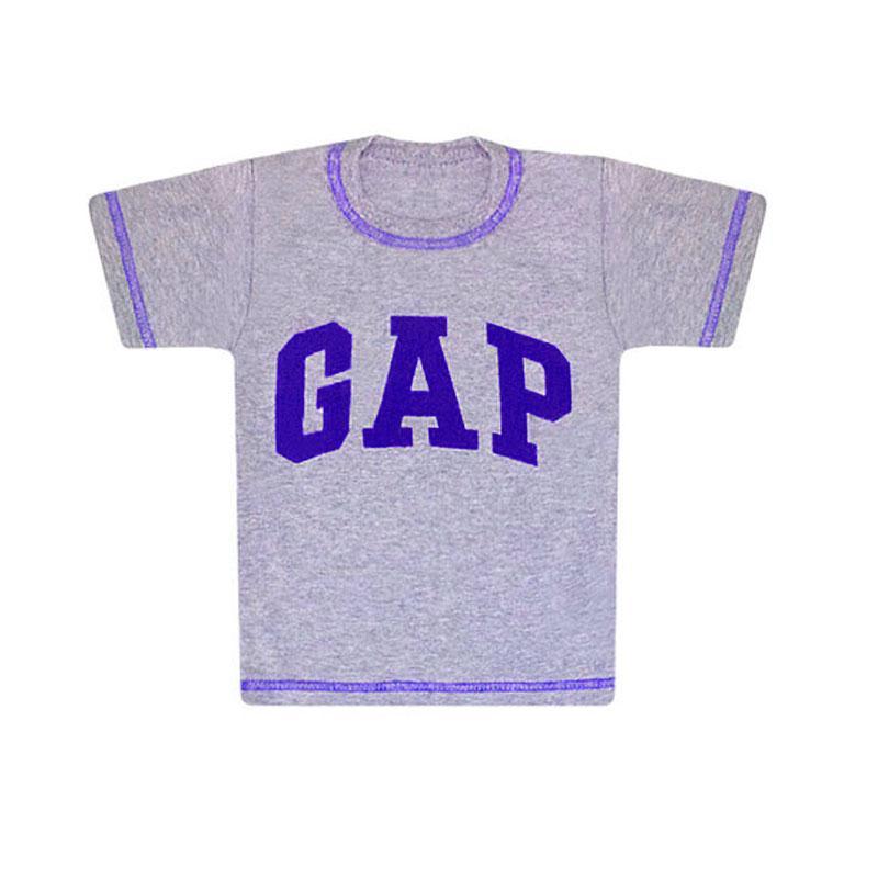 Детская серая футболка с принтом GAP для мальчика кулир