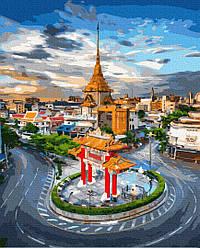 Картина по номерам пейзаж Рассвет в Бангкоке 40 х 50 см, BrushMe (GX36387)