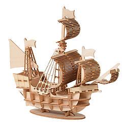 Деревянный конструктор DIY - JM01 Корабль