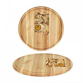 Доска для пиццы 27 х 1,5 см дерево S&T 8906-1
