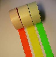 Етикет-стрічка 22 х 12 кольорова, фігурна, фото 1