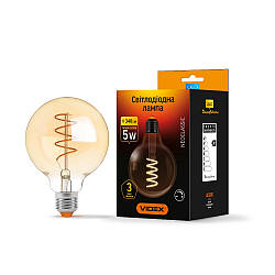 LED лампа VIDEX Filament G95FASD 5W E27 2200K 220V диммерная (VL-G95FASD-05272)