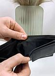 Мужской кожаный кошелек черный, фото 5