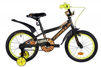 """Детский велосипед на двух колесах для ребенка 4-6 лет 16"""" Formula FURY 2020 Черный (OPS-FRK-16-116)"""