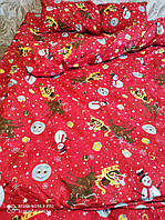 Новогоднее турецкое двуспальное постельное белье