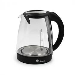 Скляний електрочайник з підсвічуванням Domotec MS-8110, чайник електричний 2 літри   чайник электрический