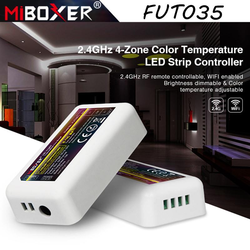 2.4G диммер-контроллер ССТ Miboxer Mi-light FUT035 10А для светодиодных лент. Для 4-х зонных пультов