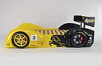 Кровать-машина для мальчика Baracca-160 желто-черная