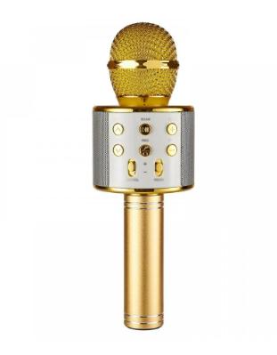 Микрофон беспроводной для караоке Bluetooth Wester WS-858 Золотой цвет