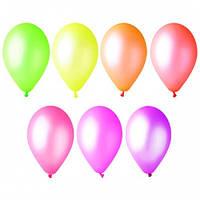 Набор воздушных шариков МИР ШАРОВ 937 Неон сердце Ассорти 12 дюймов 50шт / уп