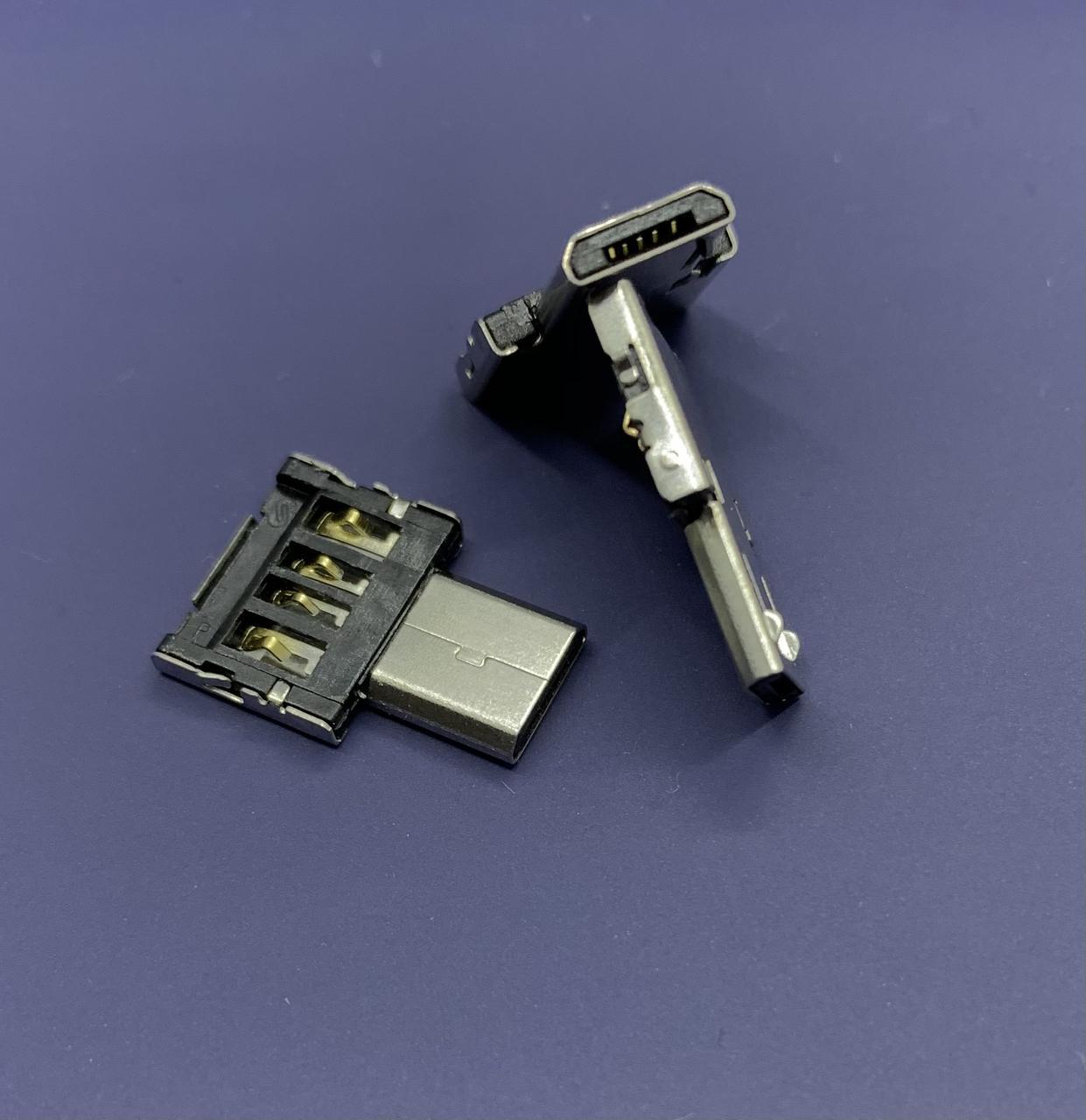 Переходник на флешку к телефону micro-UBS адаптер USB без корпуса