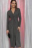 Вечерне платье с разрезом черный серебро Нева, фото 3