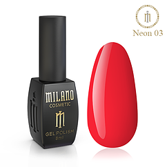 Гель-лак MILANO Neon NE-03 8 мл