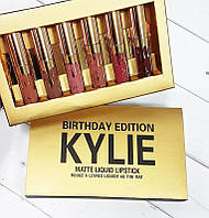 Подарочный набор матовых помад Кайли Набор жидких стойких матовых помад Kylie Birthday Edition 6 оттенков