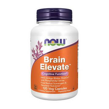 Витамины для мозга Брейн Элевейт Now Foods Brain Elevate (100 veg caps)