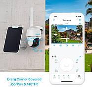 4G камера Reolink Go PT (3G, LTE, WiFi, поворотная) + солнечная панель, фото 4