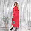 Платье имитация на запах трикотаж с плетением 50-52,54-56,58-60,62-64, фото 4