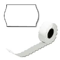 Етикет-стрічка 26 х 12 біла, фігурна, фото 1