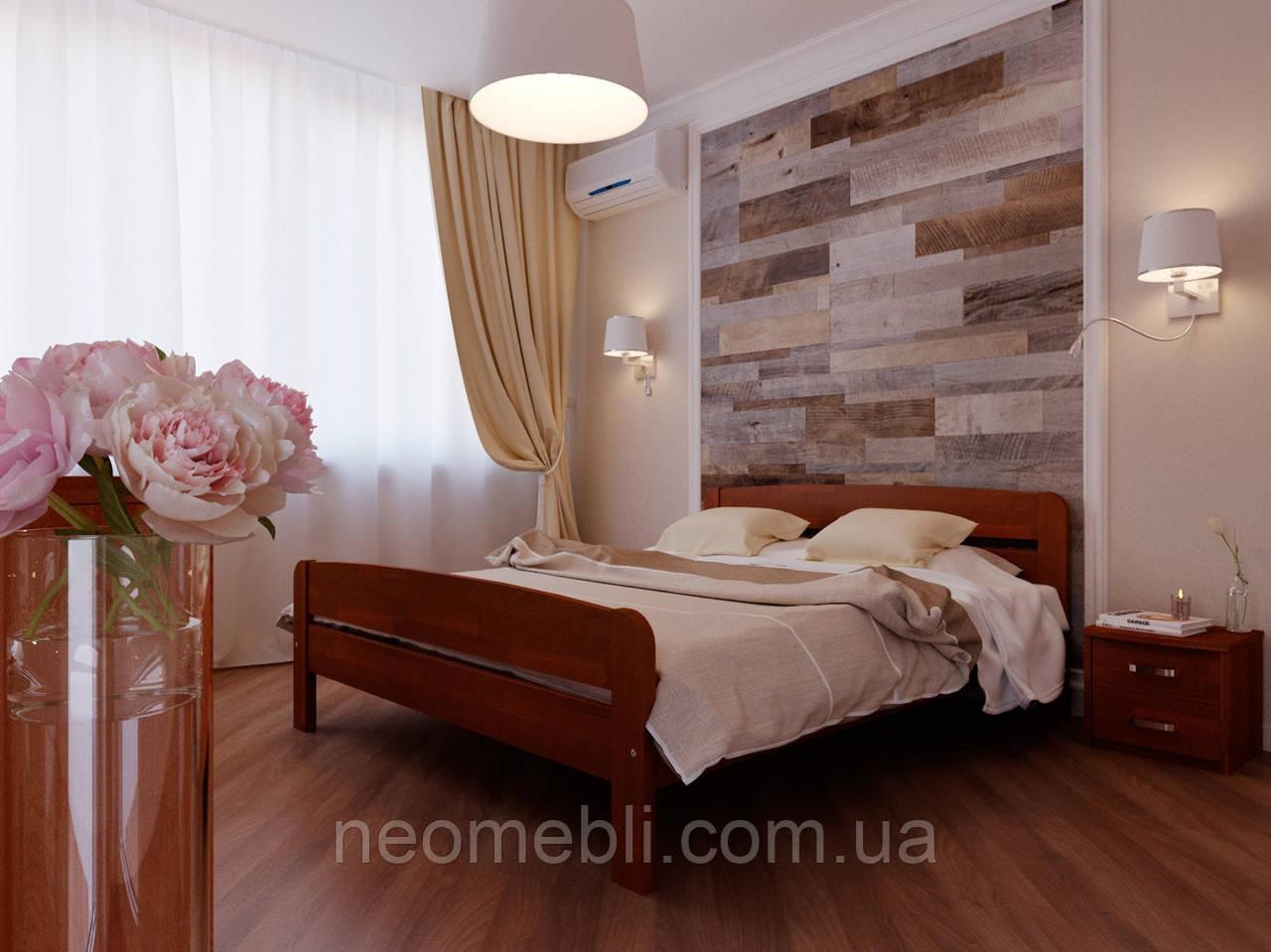 Деревянная кровать НеоМеблі Октавия С2   140х190  яблуня