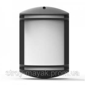 Светильник парковый настенный GARDEN 40W, E27, IP44, ударостойкий PC/PP, черный