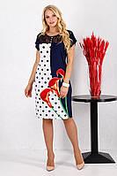 Платье большого размера Керри Калла красный, фото 1