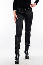 Эластичные джинсы OMAT jeans 9808-914 в полоску черные