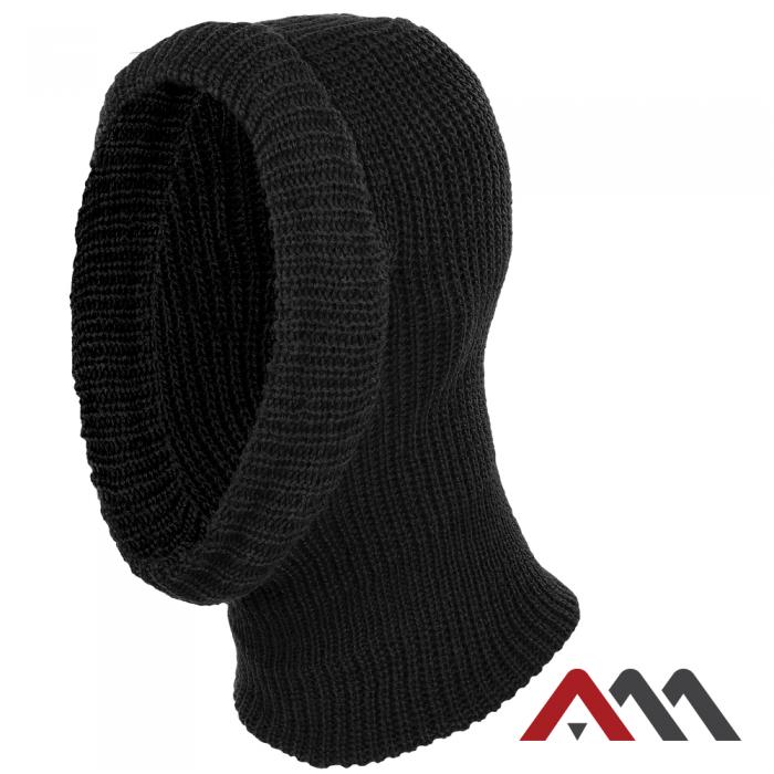 Зимняя шапка вязаная балаклава CZAPKA KOMINIARKA 2 - BLACK