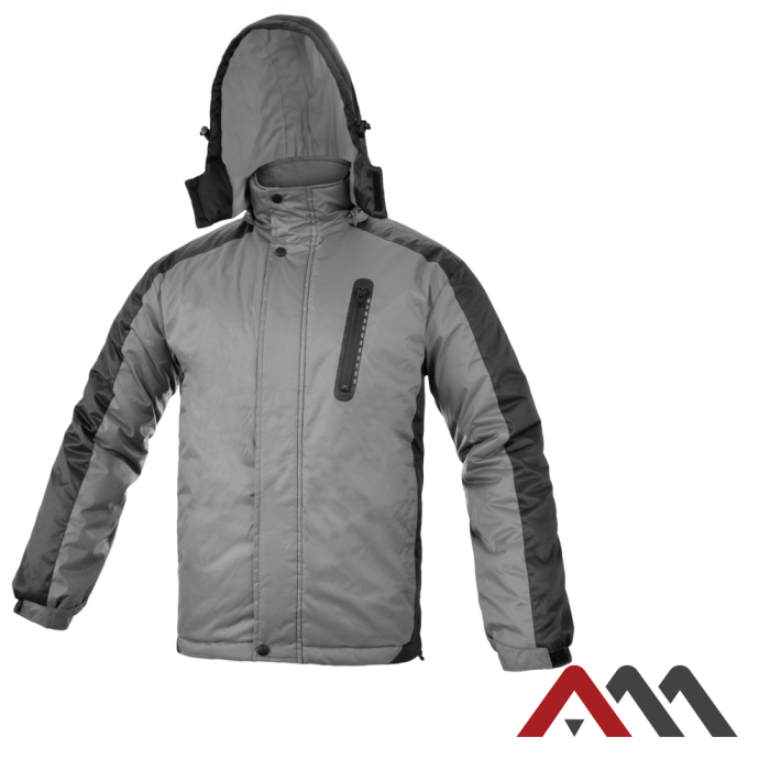 Куртка зимняя  TOPJACK GREY/BLACK KURTKA