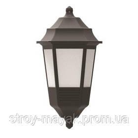 Светильник парковый настенный FLORA 40W, E27, IP44, ударостойкий PC/PP, чёрный