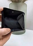 Мужской кожаный кошелек визитница черный, фото 3