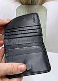 Мужской кожаный кошелек визитница черный, фото 5