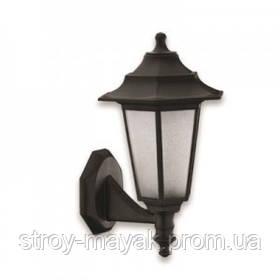 Светильник парковый настенный  ножкой FLORA 40W, E27, IP44, ударостойкий PC/PP, черный