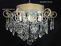 Классическая хрустальная со встроенной LED подсветкой 4+4 белая с потертостью серебро, фото 1