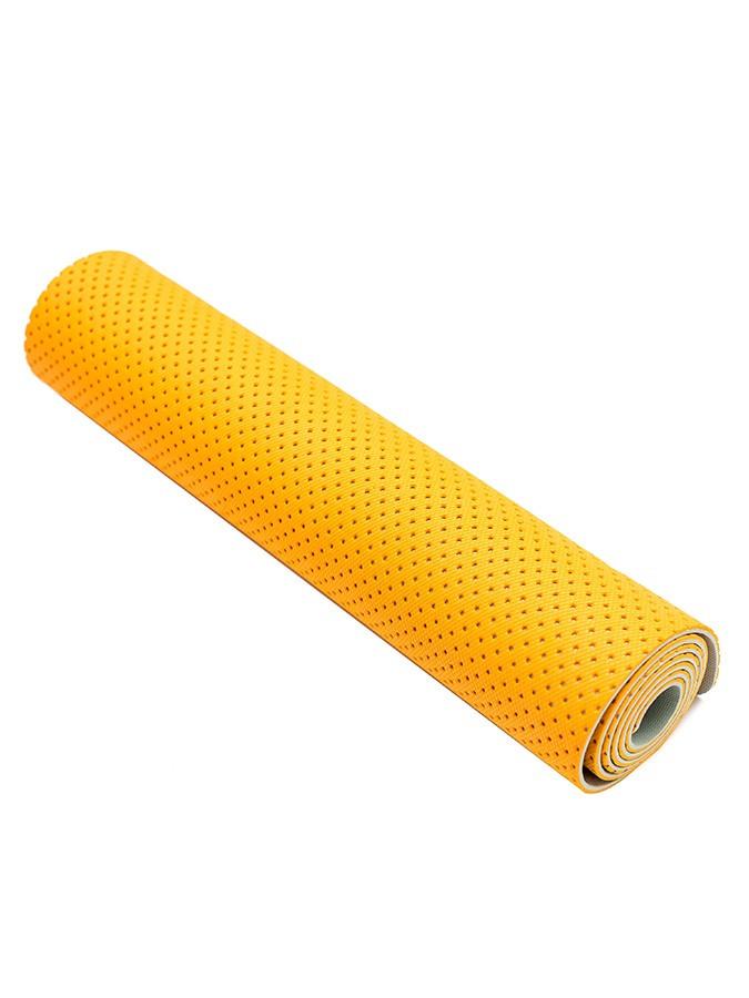Коврик для фитнеса Ecofit MD9032 двухслойный перфорированныйTPE 1830*610*6мм оранжево-серый